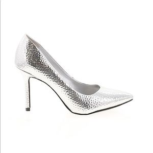 KATY PERRY Silver Bezzled Heels Size 7 NEW
